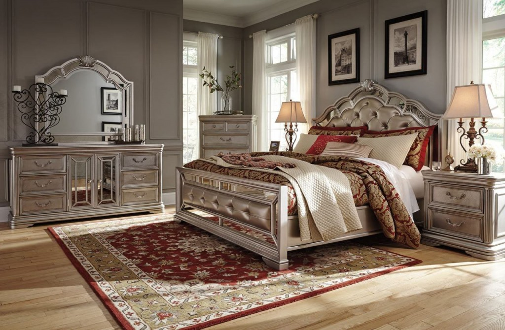 Ashley Birlanny Mirrored Panel Bedroom Set
