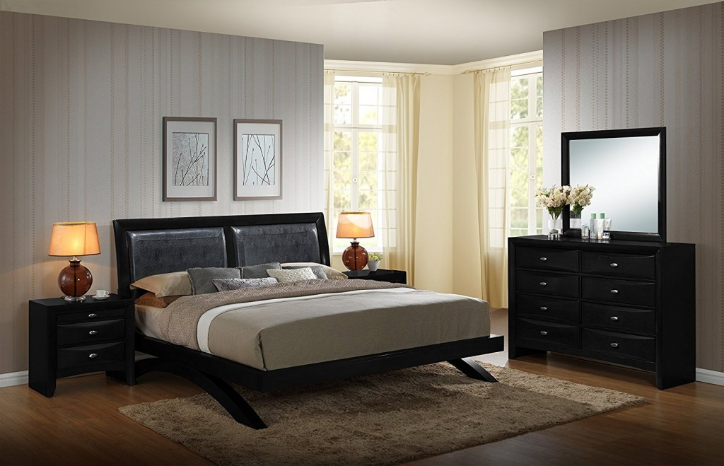 queen contemporary bed
